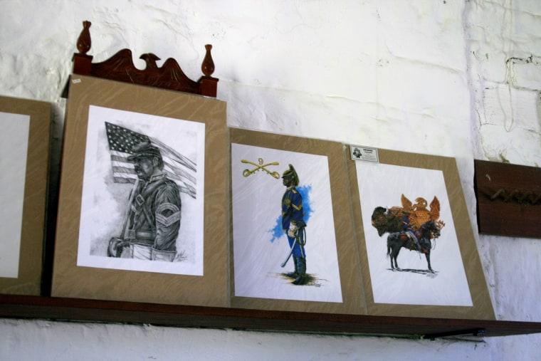 Image: Buffalo Soldier artwork.