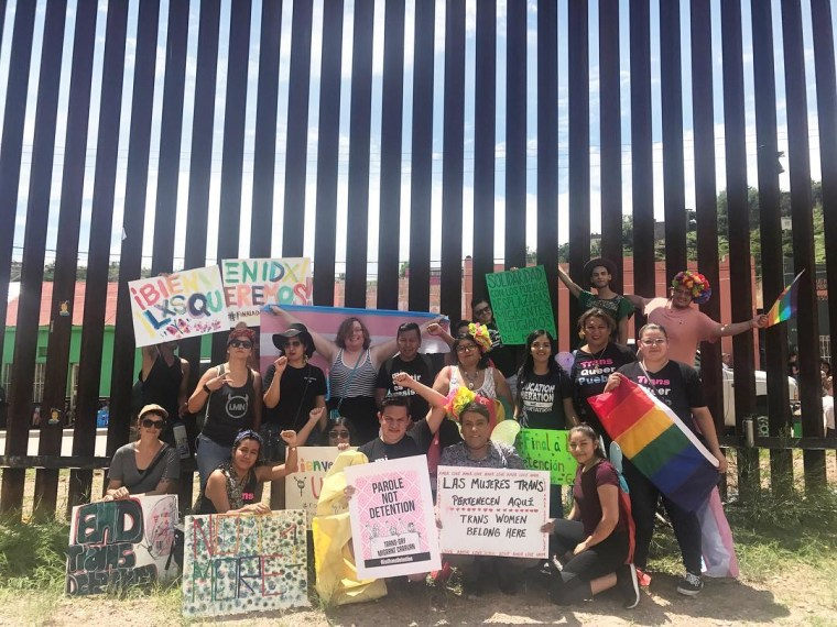Familia: Trans Queer Liberation Movement members gathered in Nogales, Ariz., to support queer asylum seekers.