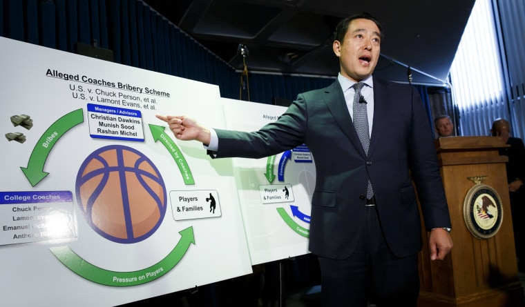 Image: US Attorney Discusses Arrests in NCAA Bribery Scheme