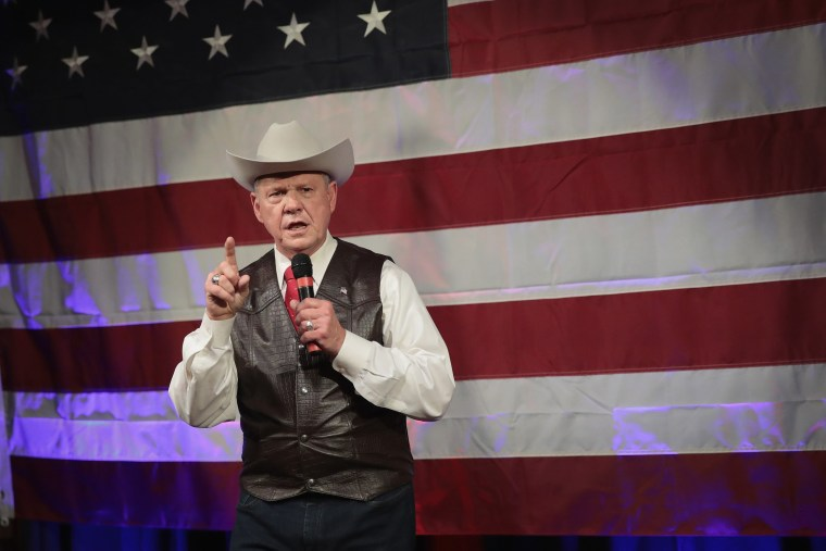 Image: Alabama GOP Senate Candidate Roy Moore Holds Campaign Event In Fairhope, Alabama