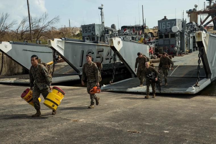 Image: US Navy Assists As Puerto Rico Faces Extensive Damage After Hurricane Maria