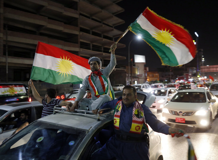 Image: Kurds Celebrate After Independence Referendum