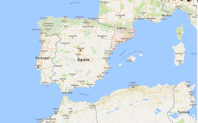 World Map Catalonia. Map shows Catalonia and Spain  Google Maps Catalan Independence Referendum What s Behind Divisive Spanish Vote