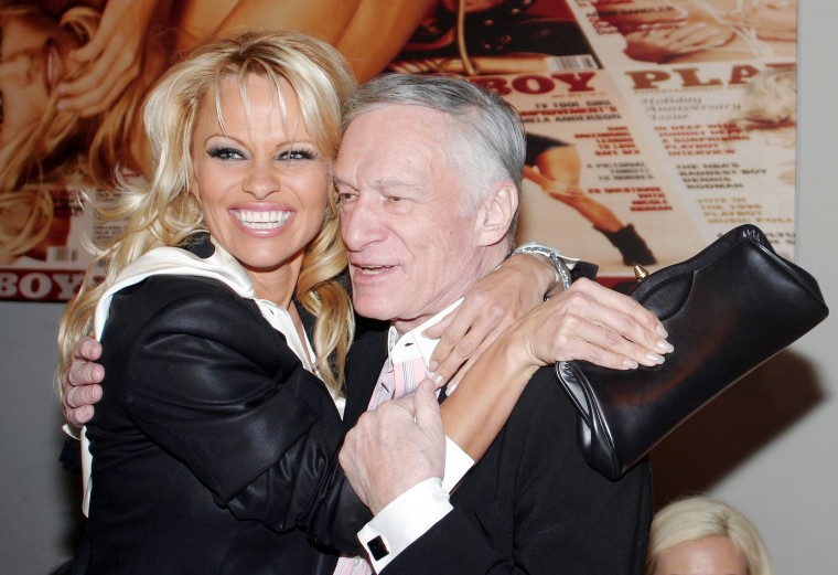 Image: Pamela Anderson and Hugh Hefner