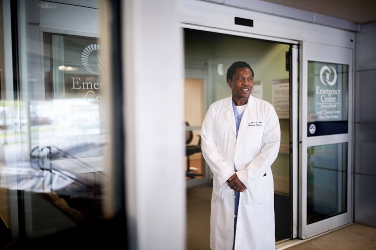 Image: Dr. Gregory Whatley poses for a photo at Navicent Health Medical Center in Macon, Ga.