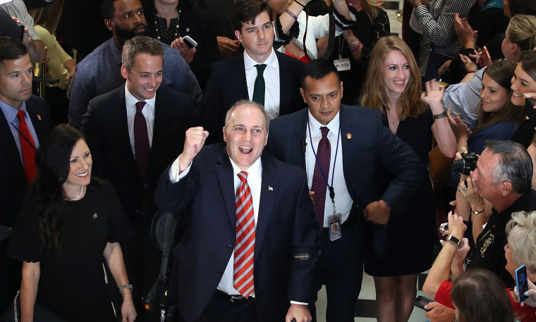 Image: Rep. Steve Scalise (R-LA) Back On Capitol Hill For First Time Since Baseball Field Shooting