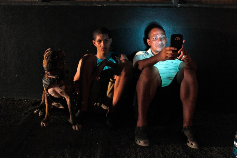 Image: Puerto Rico left in the dark at night without electricity