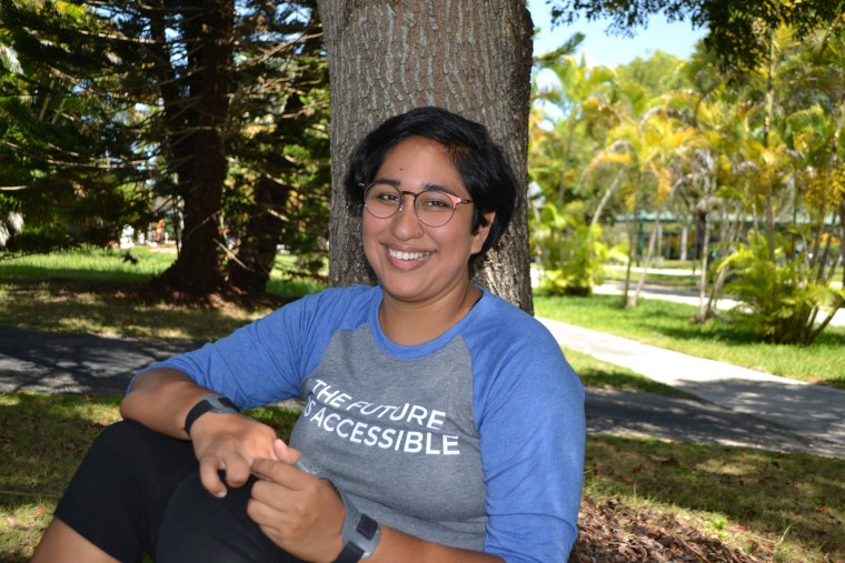 Annie Segarra, a disabled, queer, Latinx, advocates for people with disabilities.