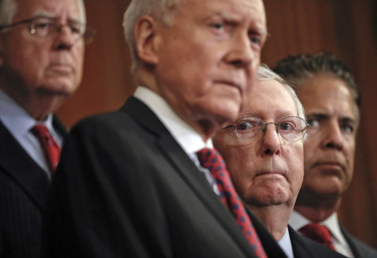 Image: Mitch McConnell, Mike Enzi, Orrin Hatch, Mike Bishop