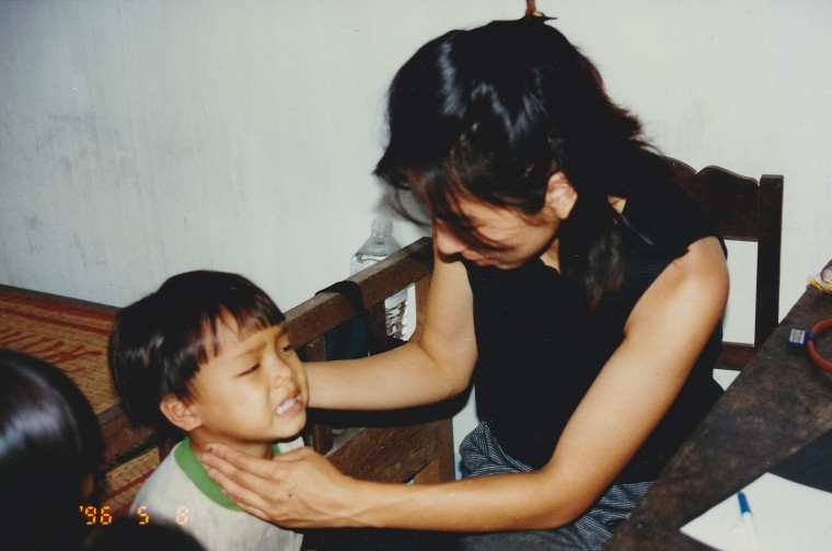 Dr. Mai-Khanh Tran during an international medical mission.