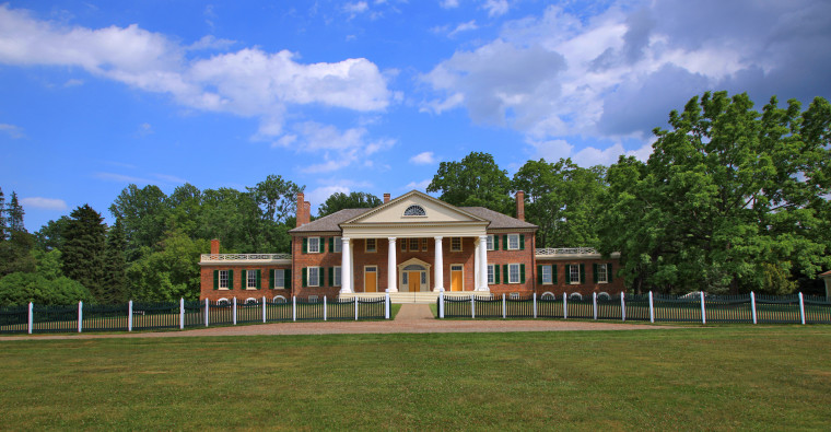 Montpelier, the home of James Madison, fourth President of the U.S., stands in Orange, Va.