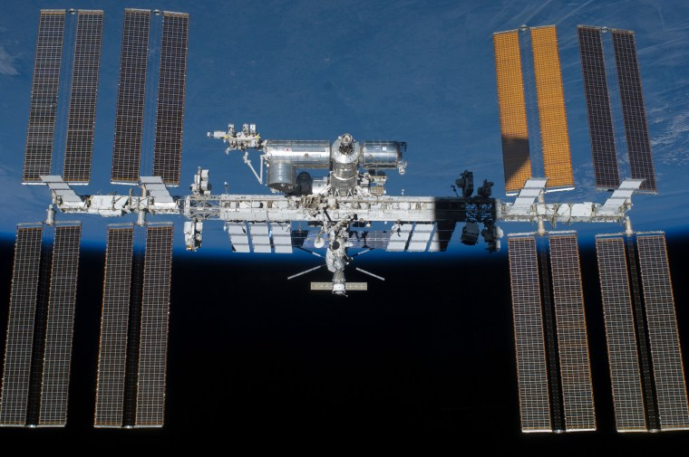 NASA and its international partners completed assembly of the International Space Station in the fall of 2011.