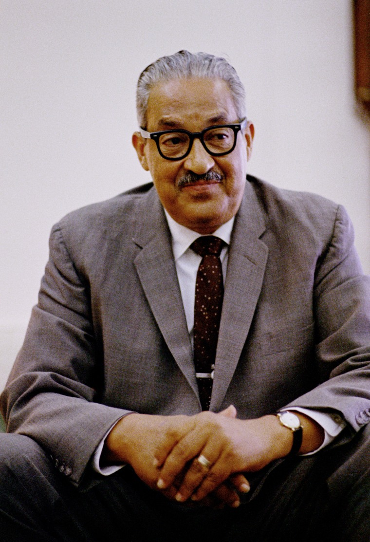 Image: Thurgood Marshall in the Oval Office, June 13, 1967.