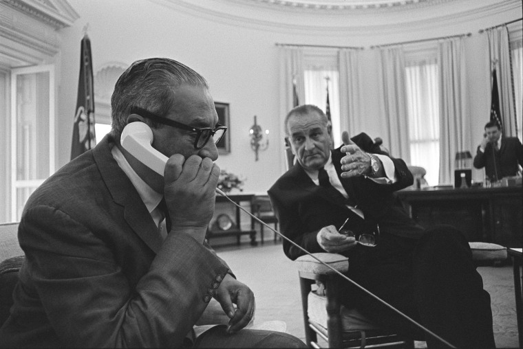 Image: Thurgood Marshall meeting with President Lyndon B. Johnson, June 13, 1967.