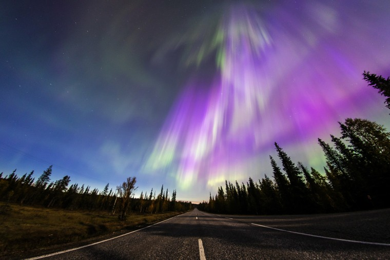 Image: The Aurora Borealis (Northern Lights) is seen over the sky near the village of Pallas (Muonio region) of Lapland