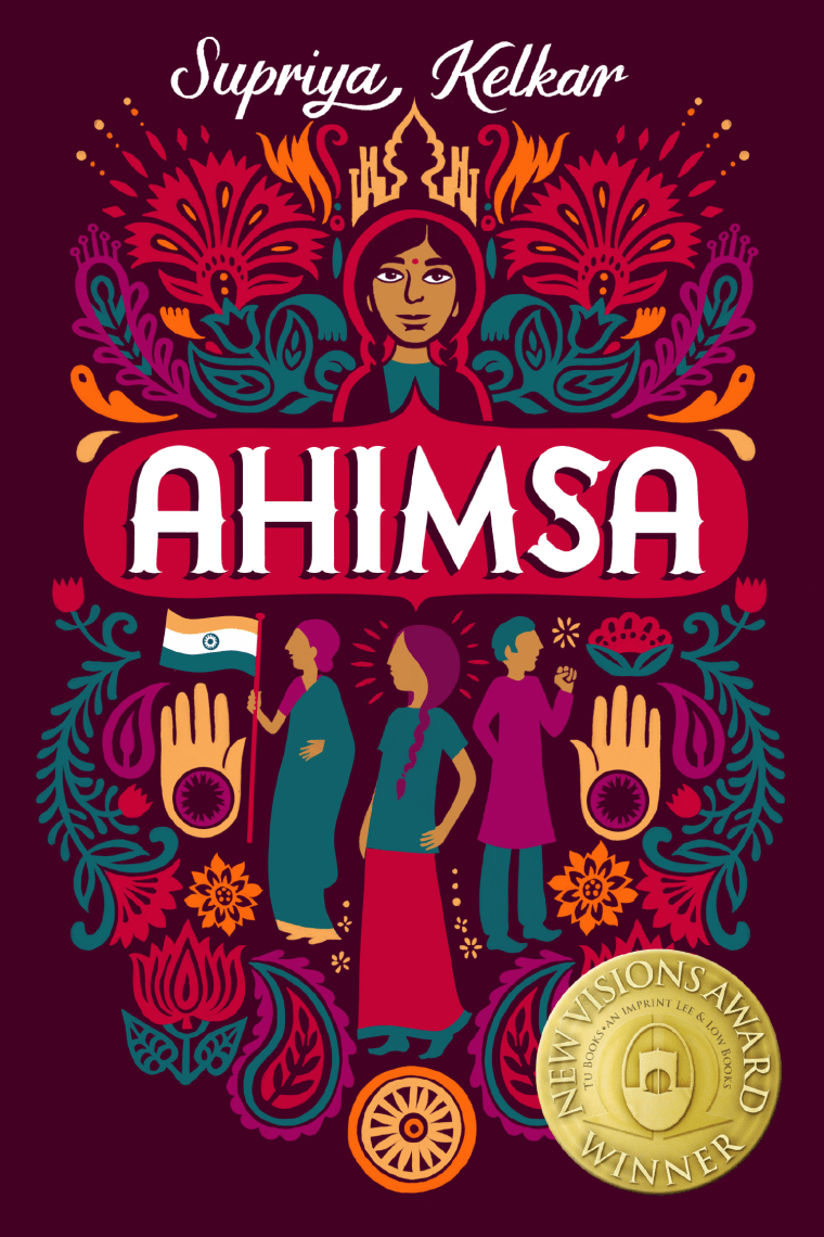 The cover of the new middle grade novel 'Ahimsa.'