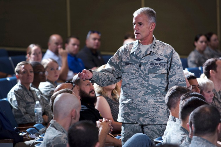 Image: Superintendents Lt. Gen. Jay Silveria speaks at the United States Air Force Academy in Colorado