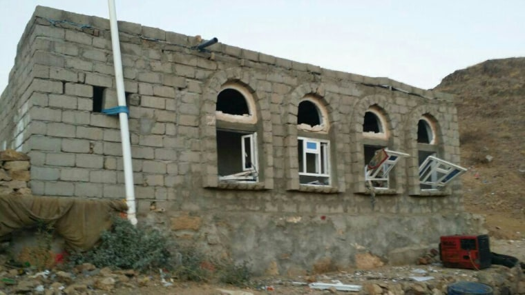A village structure in the aftermath of the Yemen raid.