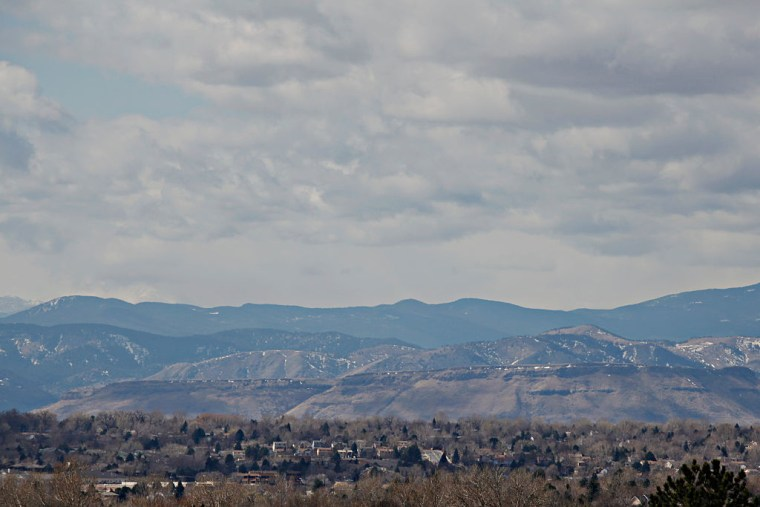 Mountain view from Westminster, Colorado