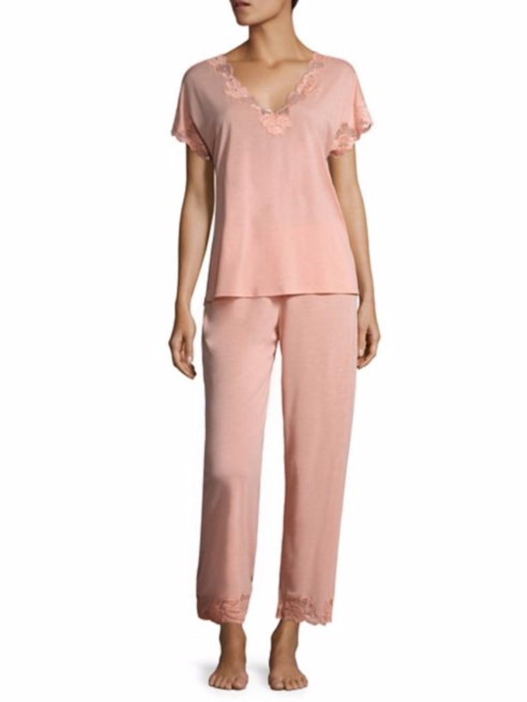 Natori PJ Set in Orange Coral