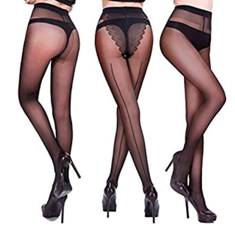 Honenna Women's Semi-Sheer Pantyhose Tights