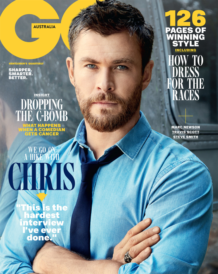 Chris Hemsworth on the cover of GQ Australia