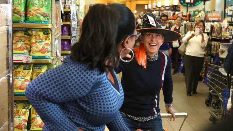 Ellen and Oprah Food Shopping