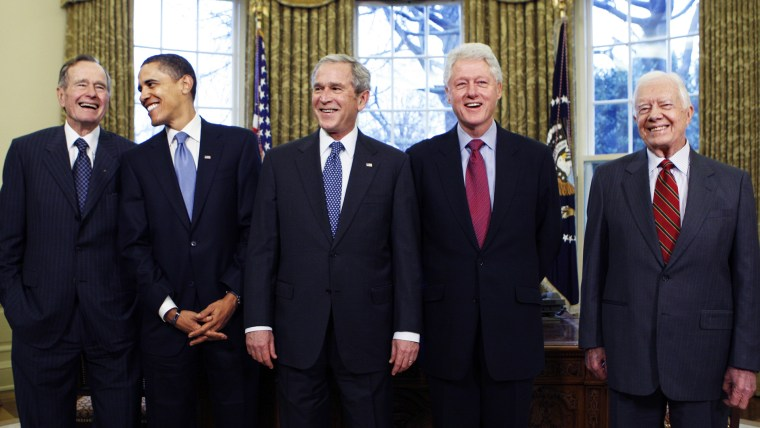 Image: George W. Bush, Barack Obama, Bill Clinton, Jimmy Carter, George H.W. Bush