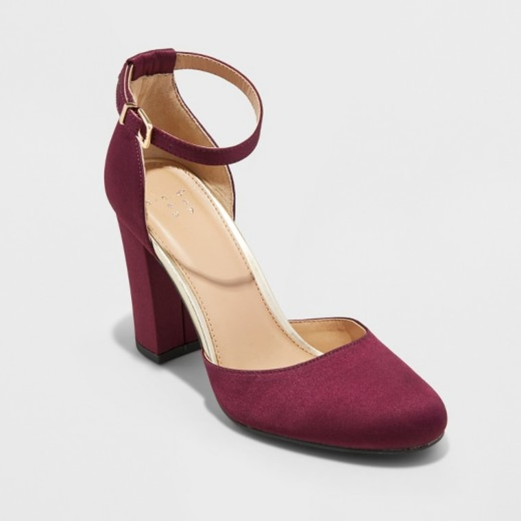 A New Day Eloisa Satin Mary Jane Heel Pumps