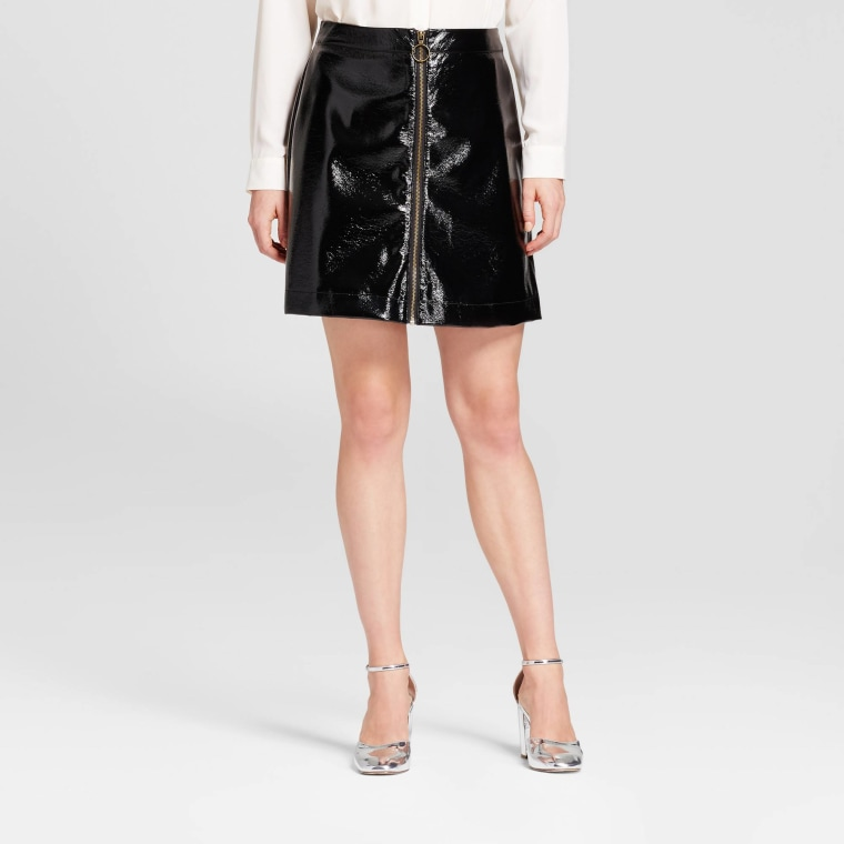 Who What Wear Zip Front Moto Skirt