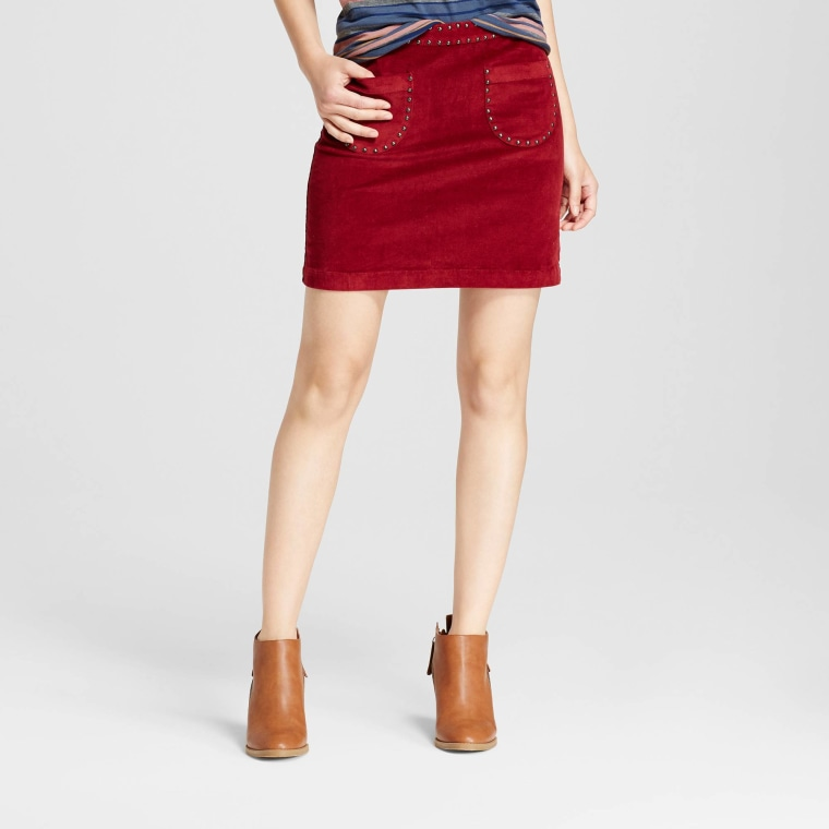 Mossimo Supply Co. Corduroy Skirt with Studs