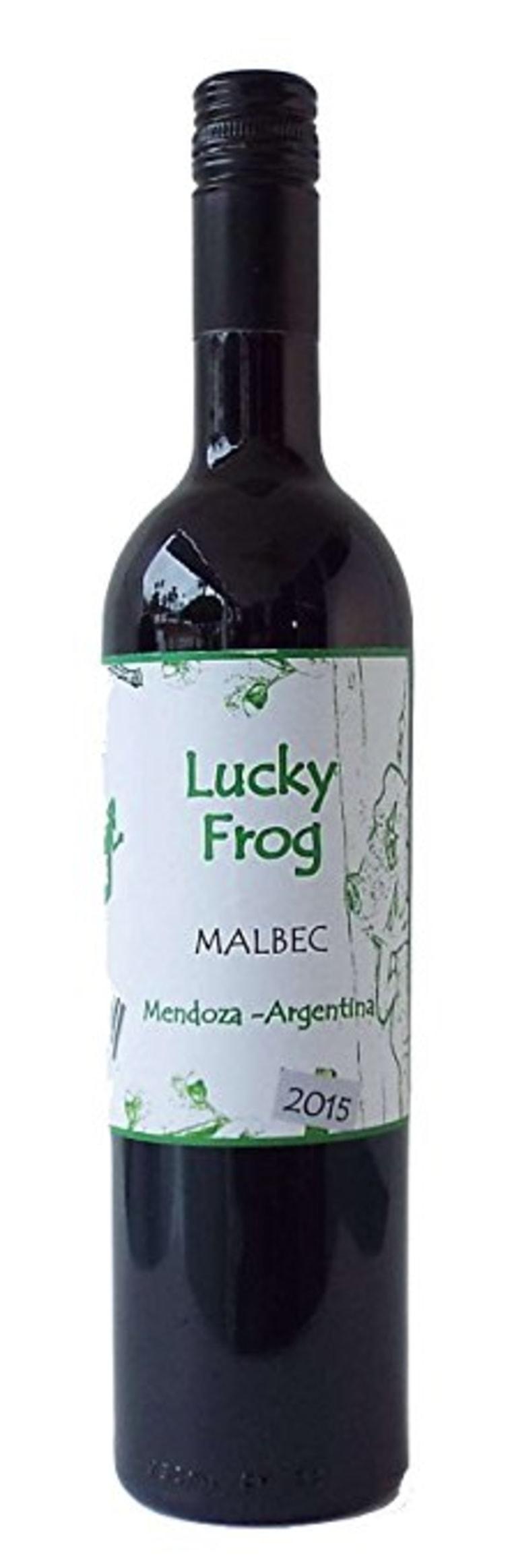 Lucky Frog bottle of wine