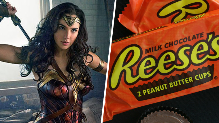 Gal Gadot as Wonder Woman / Reese's Peanut Butter Cups