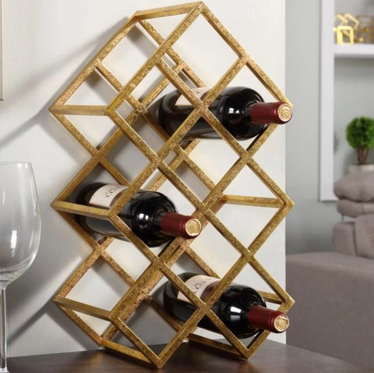 Wine rack in gold