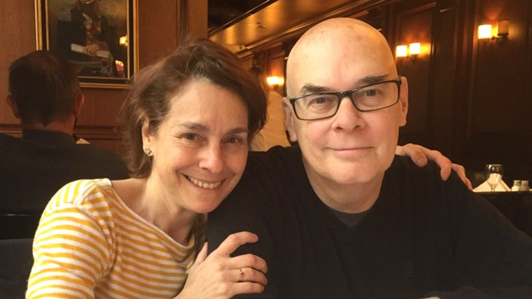 Mark Mooney and his wife.
