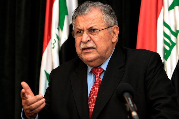 Image: Iraq's former president Jalal Talabani seen in 2006