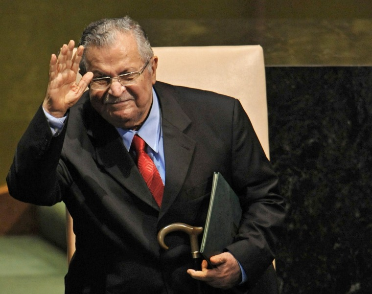 Image: Jalal Talabani pictured at the UN in New York in 2009.