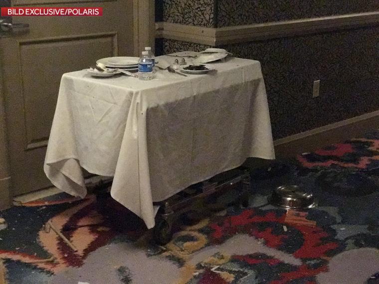 Image: Table outside Mandalay Bay hotel room