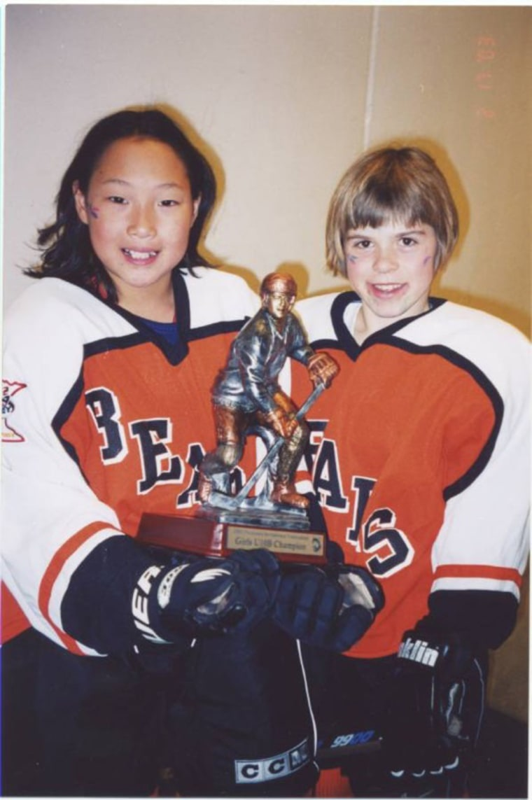 The Brandt sisters have competed together on ice hockey teams until college, when they went their separate ways.