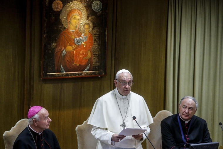 Image: Pope Francis at the General Assembly of the Pontifical Academy for Life