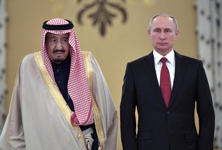 Image: Saudi King Salman bin Abdulaziz Al Saud visits Moscow