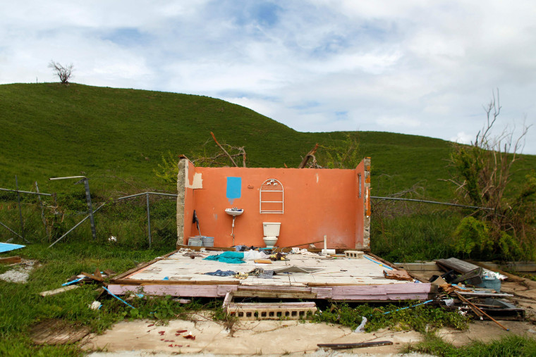 Image: A destroyed house is seen in the aftermath of Hurricane Maria