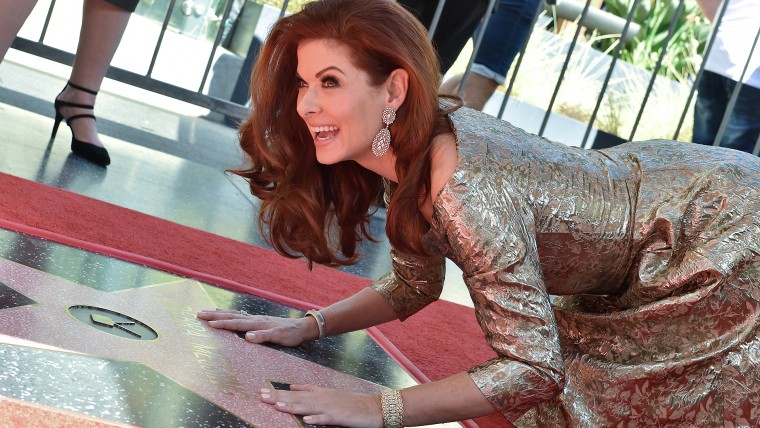 Debra Messing Honored With Star On The Hollywood Walk Of Fame