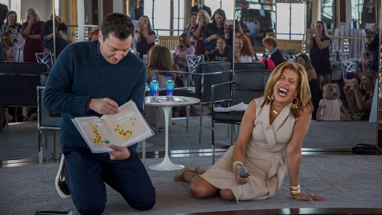 """Fallon makes Kotb laugh while reading from """"Everything Is Mama."""""""