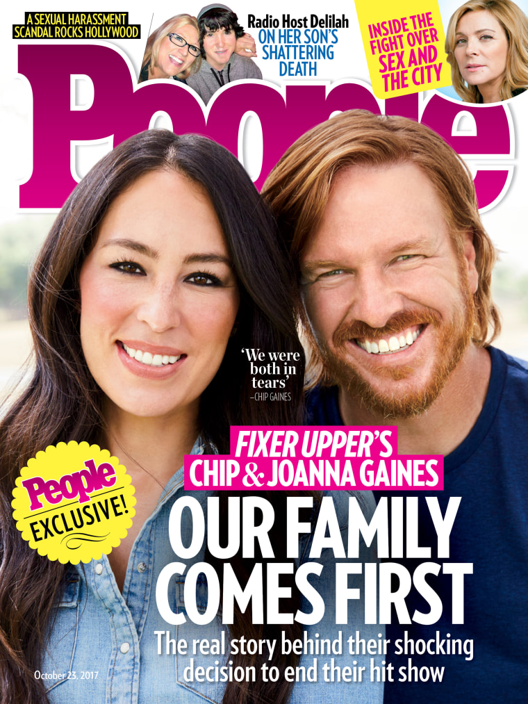 Chip and Joanna Gaines on the cover of People.