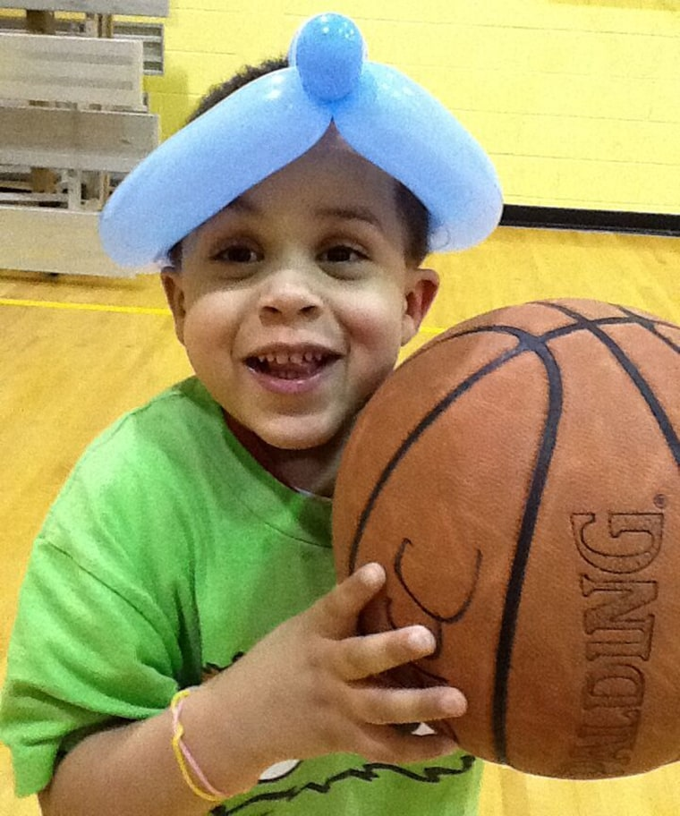 Despite living with a life-limiting orphan disease, Case Hogan is full of life and loves playing basketball and tag.