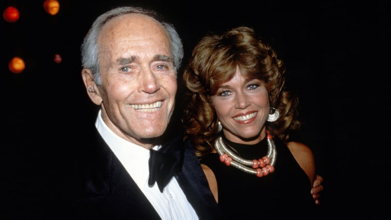 Jane Fonda with father Henry Fonda