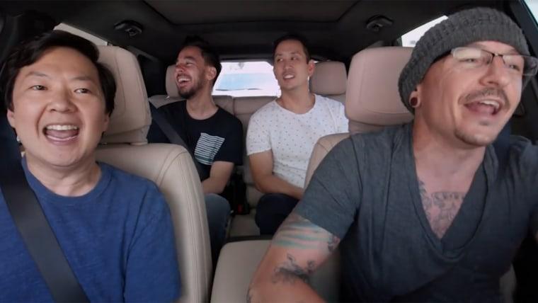 Linkin Park and Ken Jeong Carpool Karaoke.
