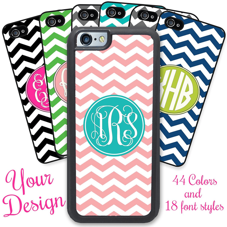 Chevron Monogram iPhone case