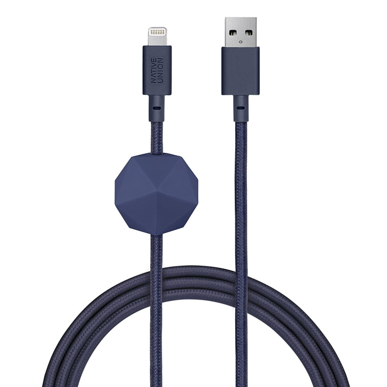 USB cord in navy